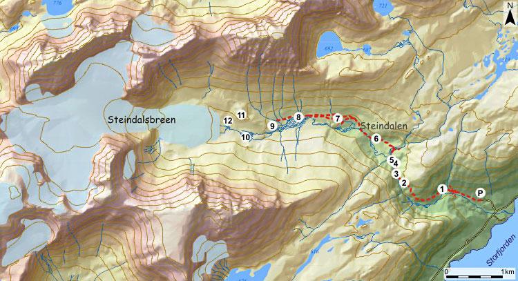 kart over storfjorden Lokal geologiskole   Storfjord   Steindalen kart over storfjorden